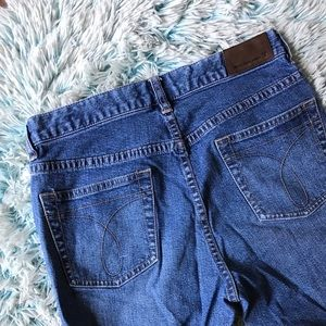 low rise calvin klein jeans (distressed)
